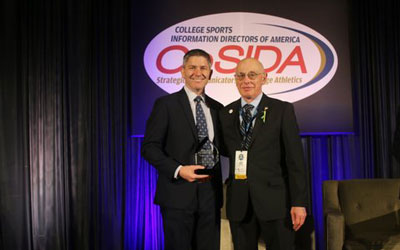 Edwards alumnus honoured with CoSIDA Lifetime Achievement Award